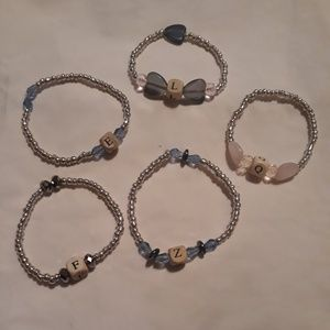☺5pc alphabet bracelets